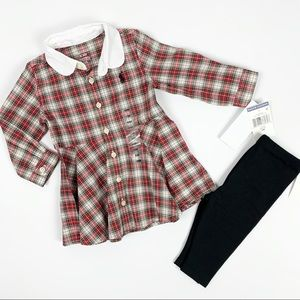 Ralph Lauren 6m Plaid outfit